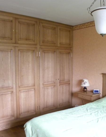 Chambre à coucher chêne rustique - Gilles Martel