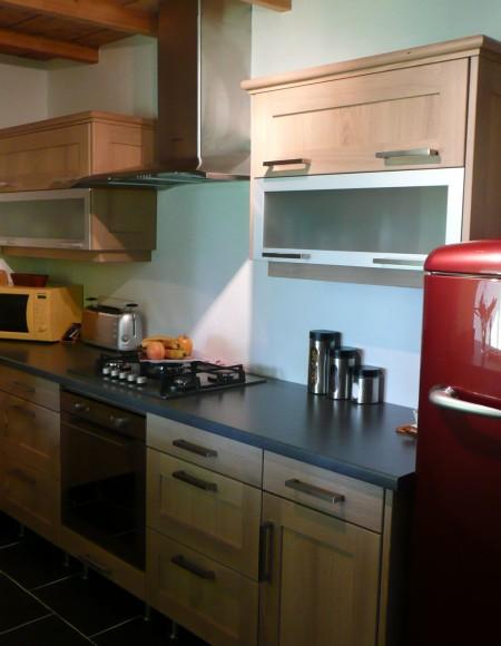 cuisine moderne ch ne naturel gilles martel. Black Bedroom Furniture Sets. Home Design Ideas