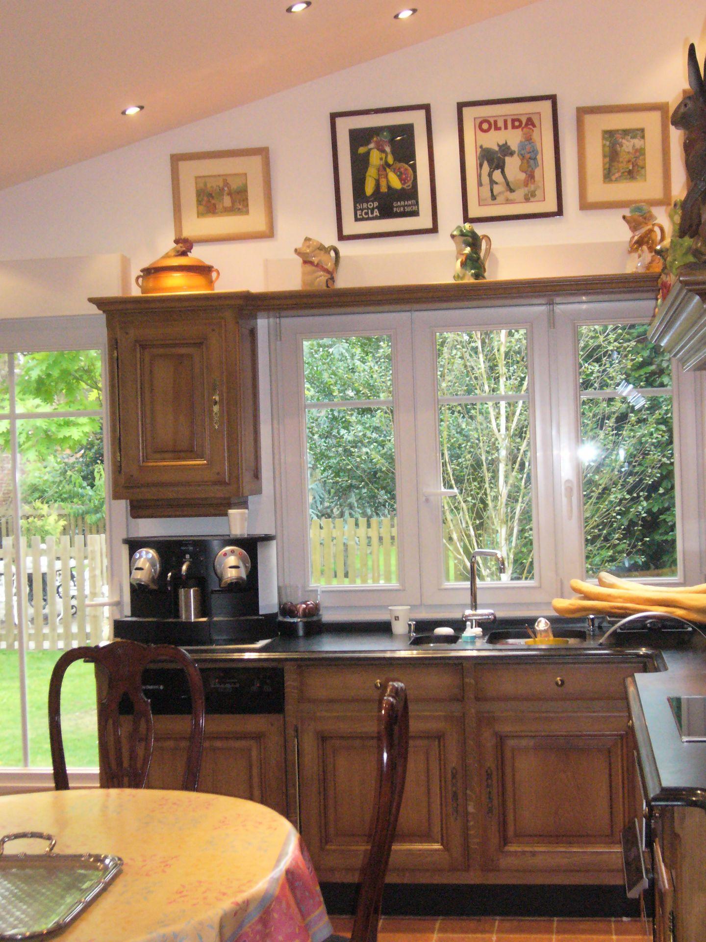 Cuisine rustique chene poignee de meuble de cuisine - Cuisine rustique repeinte ...