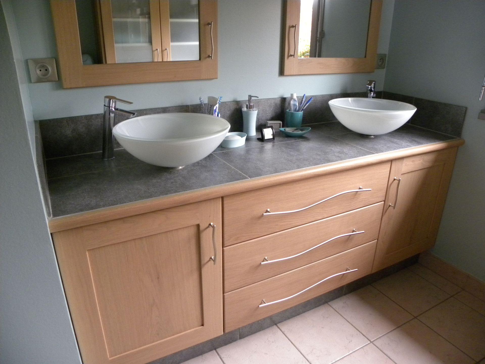 Salle de bain contemporaine bois - Faience salle de bain contemporaine ...