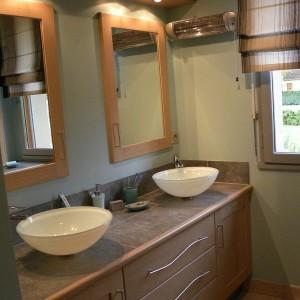 salle de bains contemporaine bois