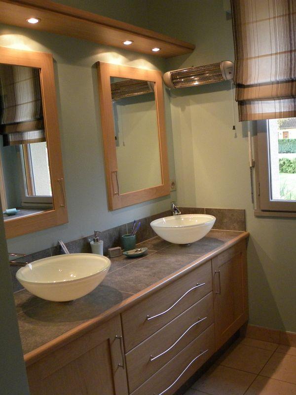 Salle de bains contemporaine bois - Gilles Martel