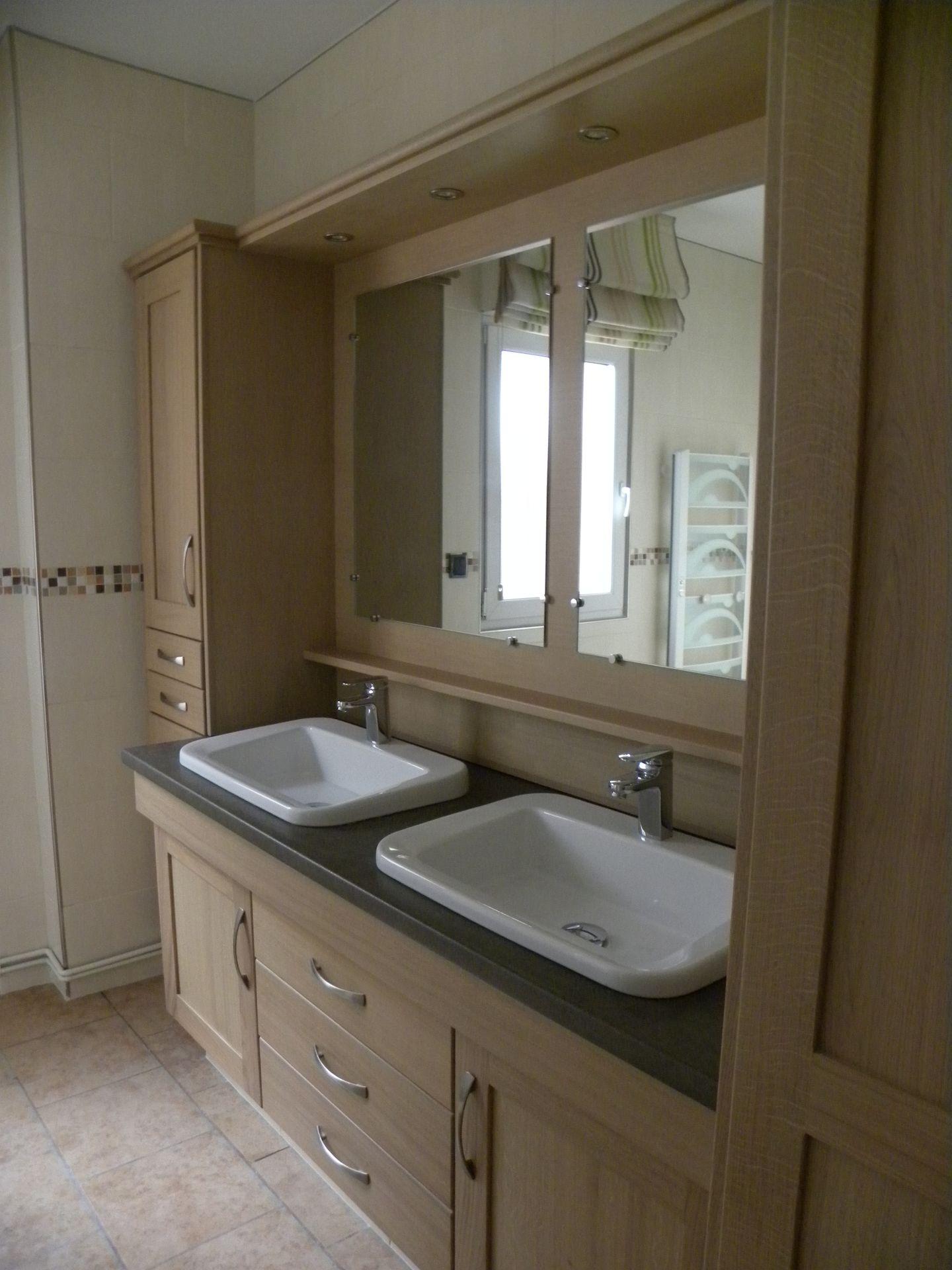 Accueil Salles de Bains Salle de bains moderne bois