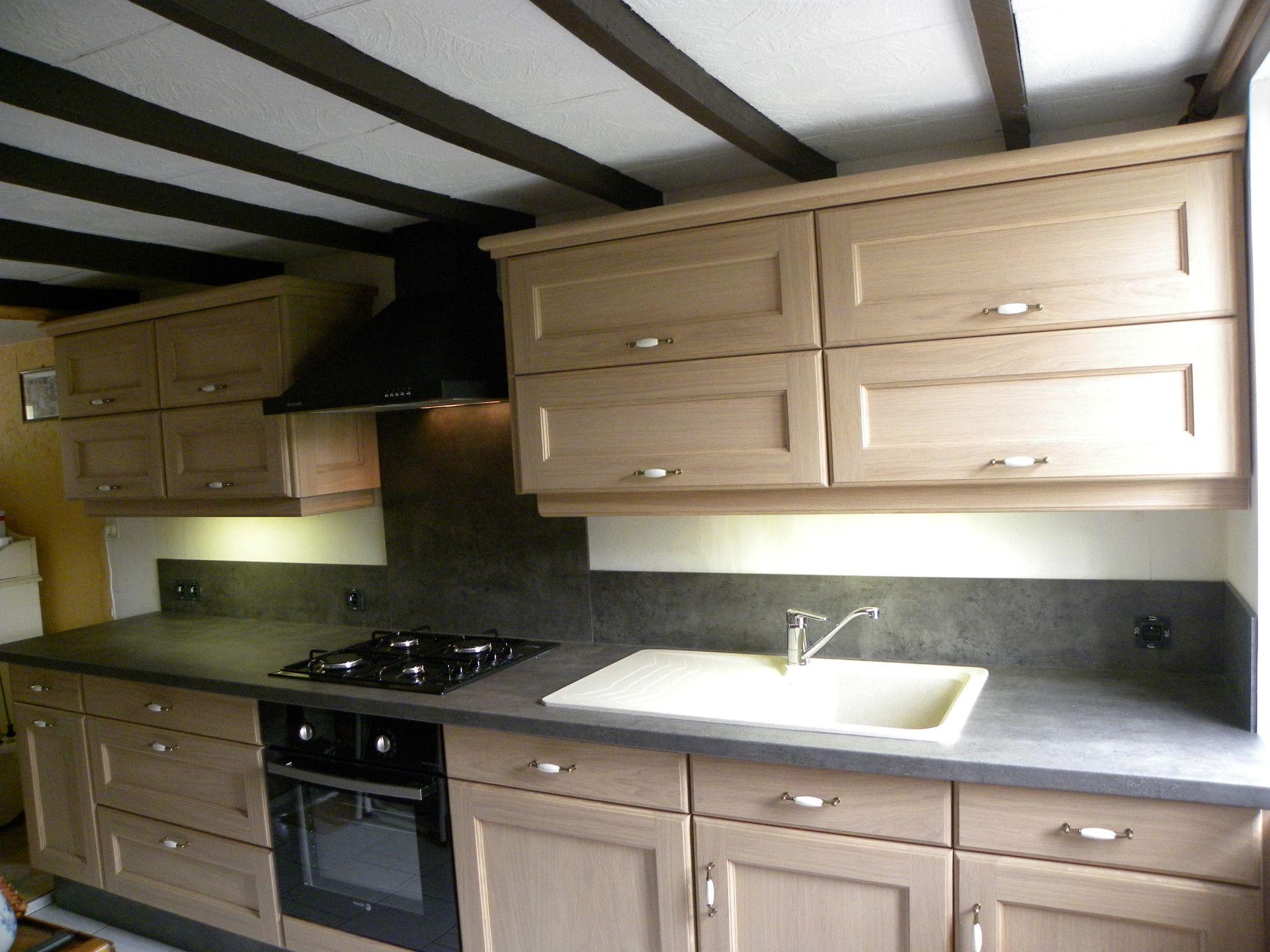 cuisine en chne excellent relooking cuisine chene dintrieur idees accueil elegant comment. Black Bedroom Furniture Sets. Home Design Ideas