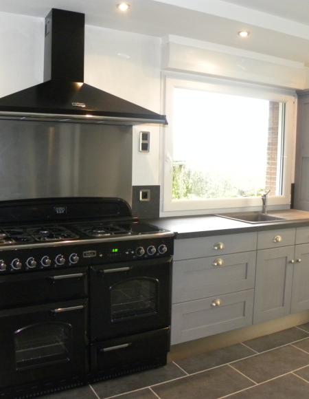 cuisines martel-cuisine laquée gris patine gris foncé