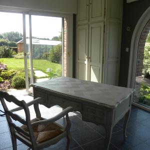 cuisines martel-meubles chêne blanc cassé patine chêne foncé