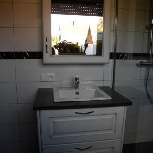 cuisines martel-salle de bains moderne laquée blanc patine grise verni mat