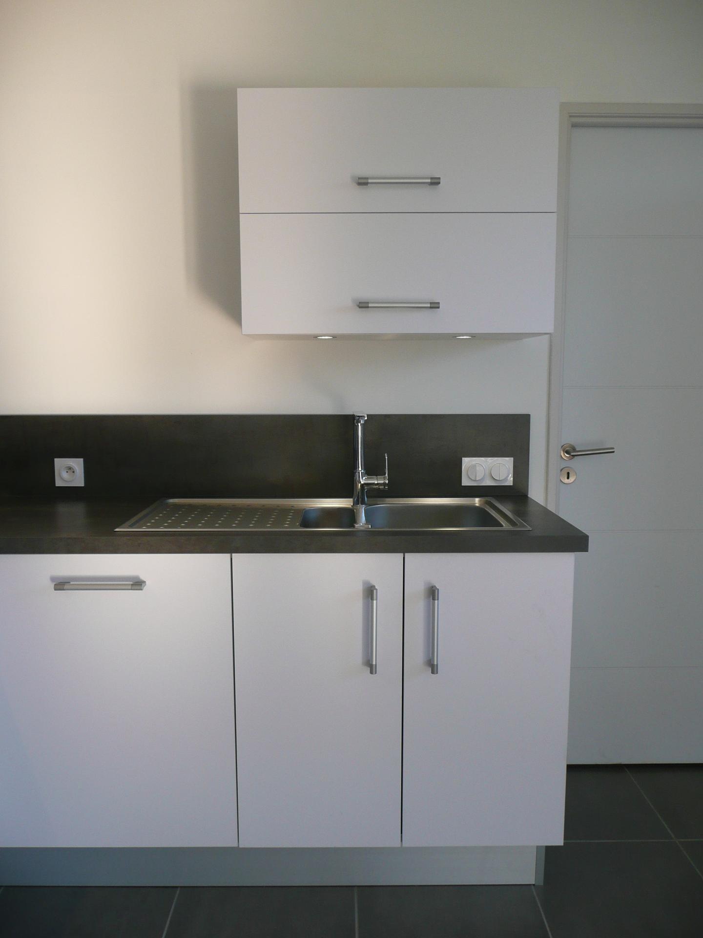 cuisine moderne m lamin blanc mat gilles martel. Black Bedroom Furniture Sets. Home Design Ideas
